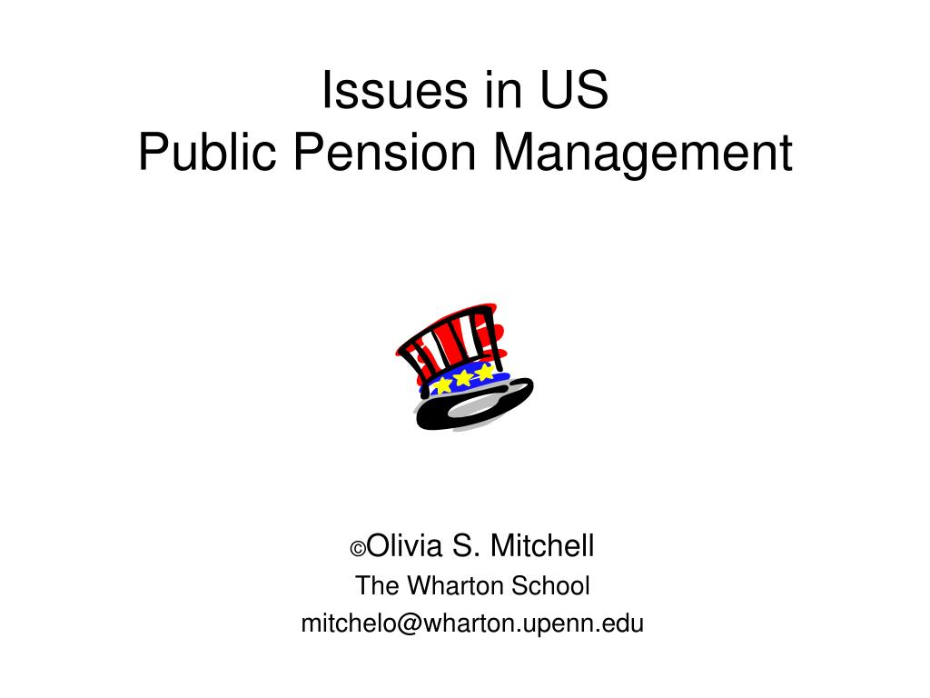issues in us public pension management l.