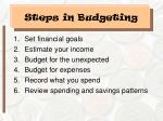 steps in budgeting