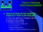 public pension fund management14