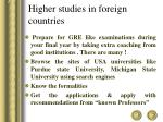 higher studies in foreign countries
