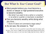but what is your career goal