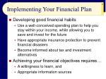 implementing your financial plan