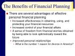 the benefits of financial planning