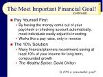 the most important financial goal27
