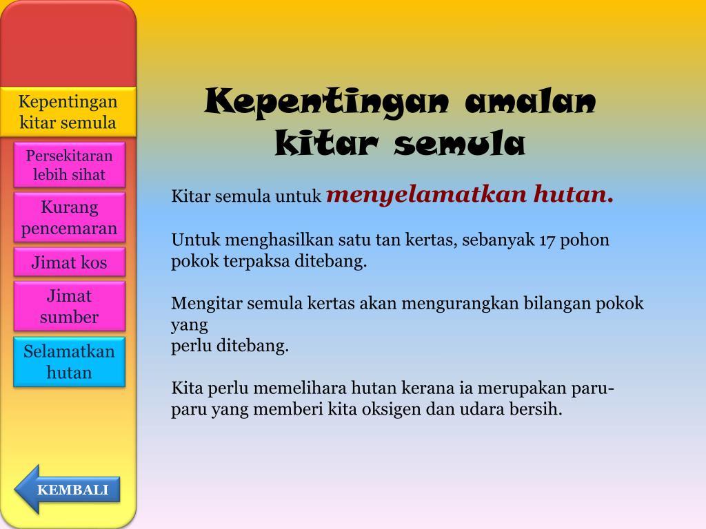 Ppt Kitar Semula Powerpoint Presentation Free Download Id 396790