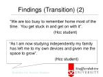findings transition 2