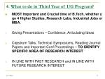 4 what to do in third year of ug program