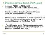 4 what to do in third year of ug program18