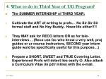 4 what to do in third year of ug program24