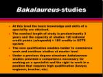 bakalaureus studies