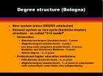 degree structure bologna