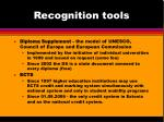 recognition tools