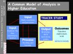 a common model of analysis in higher education