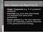 data analysis and reporting 1