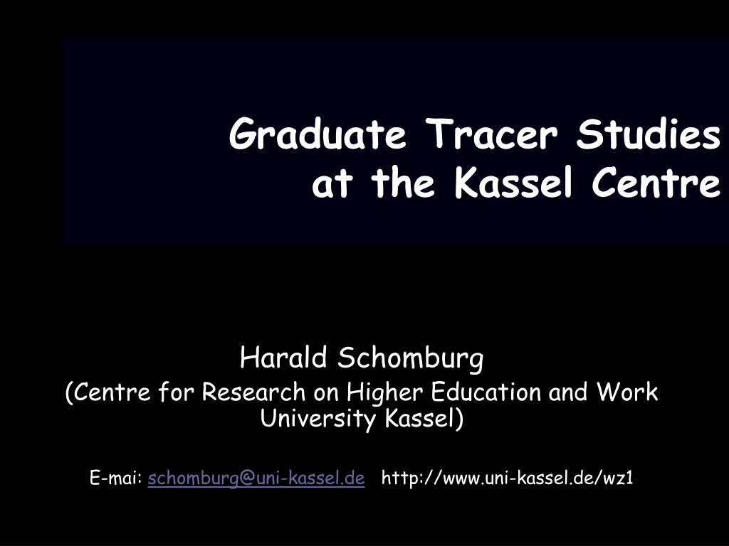 graduate tracer studies at the kassel centre l.