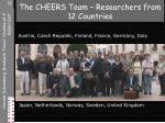 the cheers team researchers from 12 countries