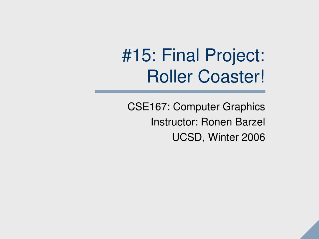 #15: Final Project: