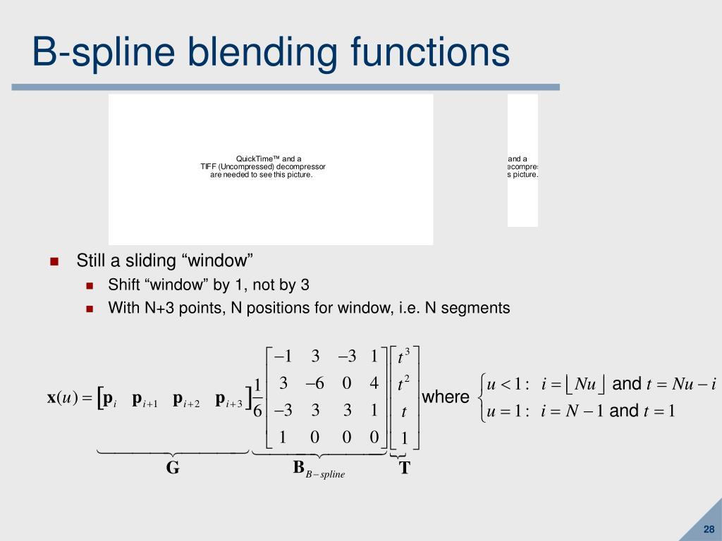 B-spline blending functions