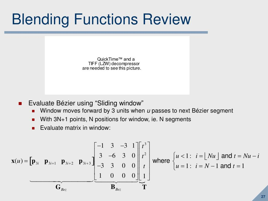 Blending Functions Review