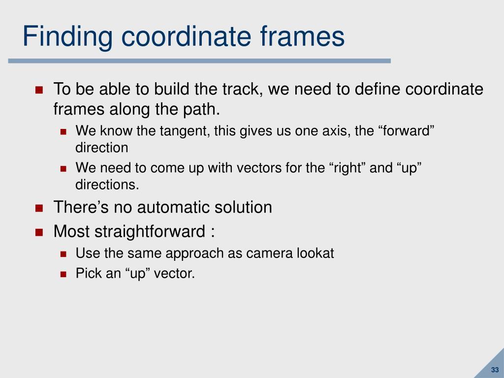 Finding coordinate frames