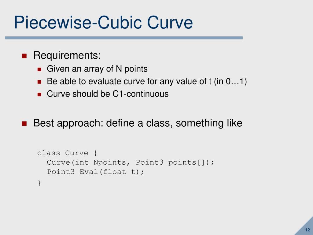 Piecewise-Cubic Curve