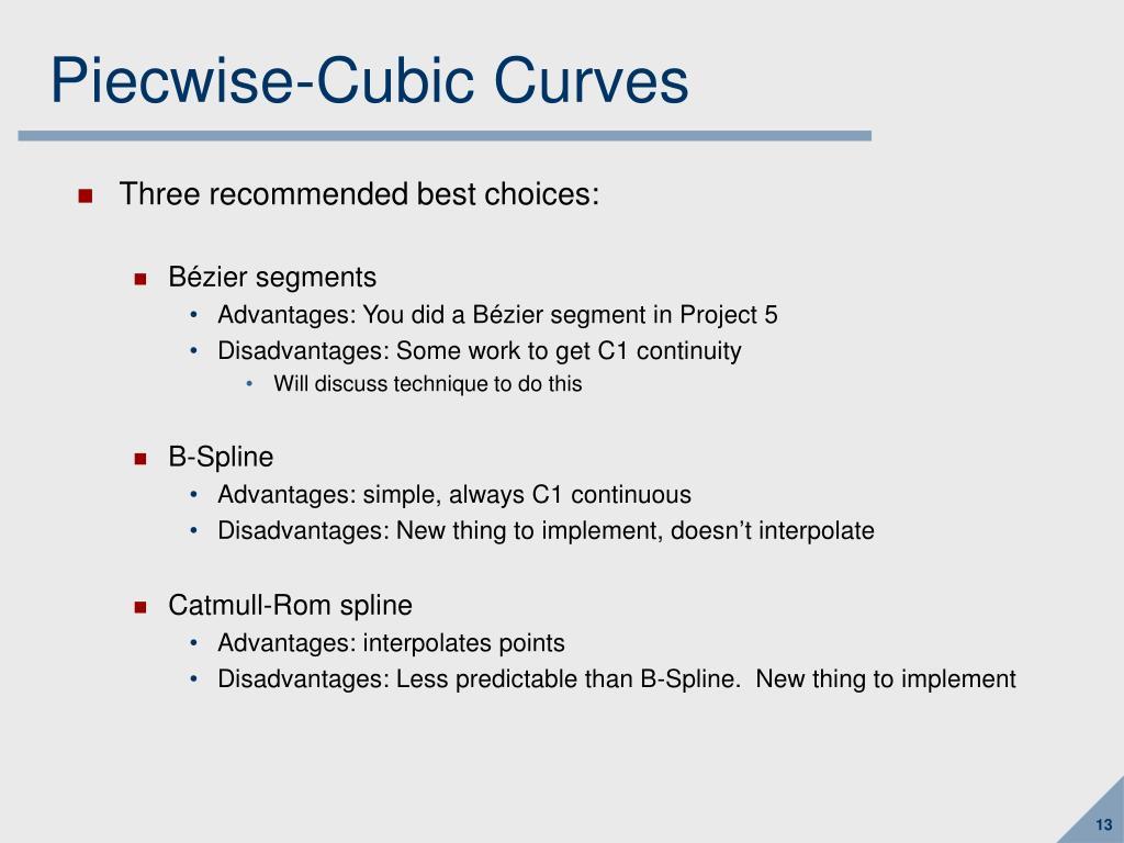 Piecwise-Cubic Curves