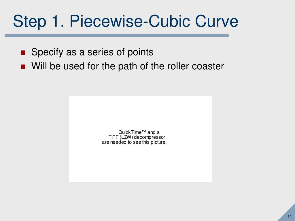 Step 1. Piecewise-Cubic Curve