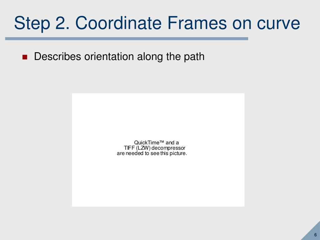 Step 2. Coordinate Frames on curve