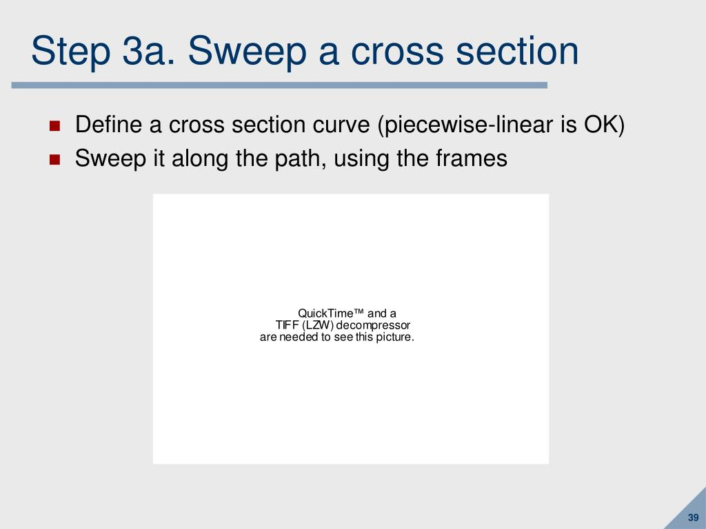 Step 3a. Sweep a cross section