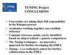 tuning project conclusions