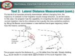 tool 2 lateral distance measurement cont