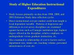 study of higher education instructional expenditures27