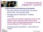 3 changing modes of engagement using icts