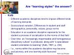 are learning styles the answer