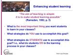 enhancing student learning