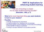 part b implications for enhancing student learning19