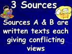 3 sources