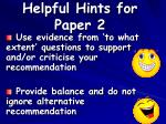 helpful hints for paper 245
