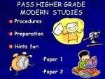 pass higher grade modern studies