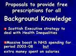proposals to provide free prescriptions for all49