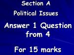 section a political issues