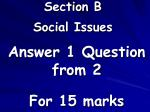 section b social issues