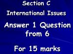 section c international issues