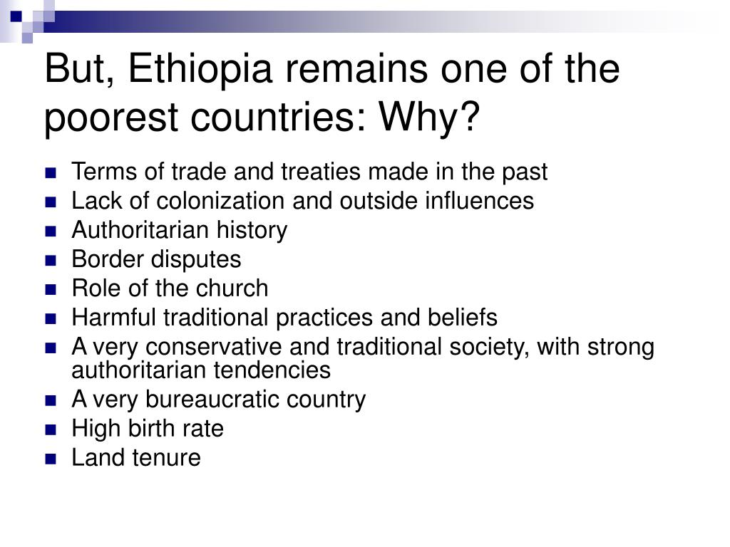 But, Ethiopia remains one of the poorest countries: Why?