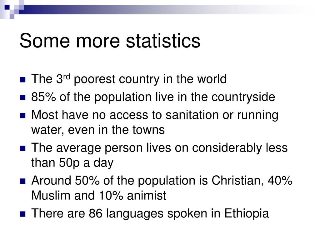 Some more statistics