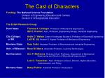 the cast of characters