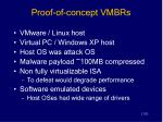 proof of concept vmbrs