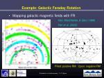 example galactic faraday rotation