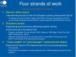 four strands of work