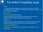 the ahelo feasibility study